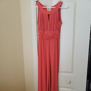 Beautiful coral stylish jumpsuit
